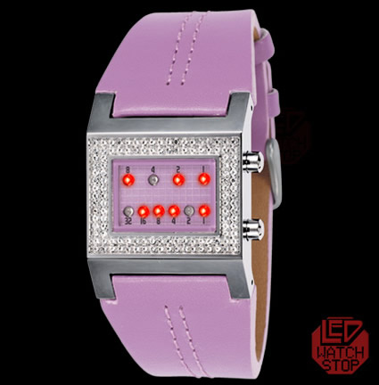 Led watch stop KERALA TRANCE reloj binario para chicas geeks
