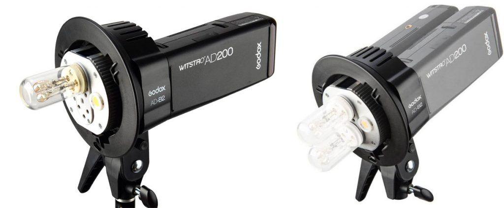 Accesorios Godox AD200 - Godox AD-B2 -Rótula conexión 2 flashes